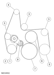 diagram for a serpentine belt on a 2005 ford f250 6 0l diesel graphic