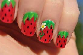 Sweet Summer Strawberries · How To Paint A Fruity Nail · Art ...