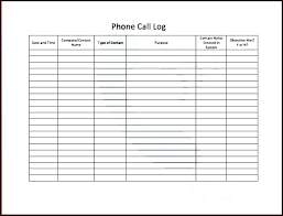 Sales Call Log Template Excel Free Client Contact Sheet