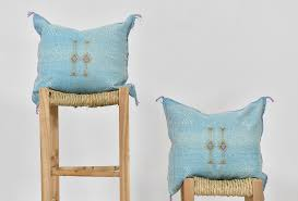 Light Blue Cactus Cactus Silk Cushion Light Blue