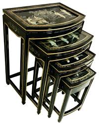 large size of black lacquer asian stacking tables 4 piece set asian coffee table antique chinese
