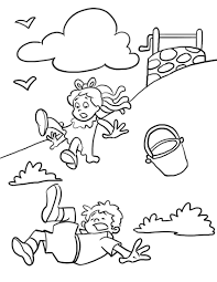 Jack And Jill Coloring Page And