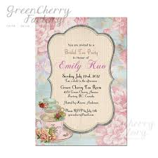 Kitchen Tea Invites Bridal Shower High Tea Invitation Baby By Greencherryfactory Tea