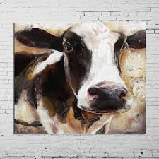 modern art 100 handpainted animal oil painting cow paintings on canvas wall pictures for home decor unique gift in painting calligraphy from home garden