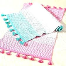 pink and turquoise rug turquoise and black bathroom rugs patterned bath teen sunrise to sunset mat bright pink at pottery