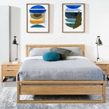 turquoise bedroom furniture. Bruno Double Size Bed Frame - Solid Oak Turquoise Bedroom Furniture B