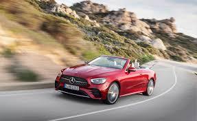 The e 350 sedan ($55,045), e 450 4matic sedan ($62,545) and e 450 4matic wagon ($67,095) share similar equipment levels. 2021 Mercedes Benz E Class Coupe And Cabrio Gain Mild Hybrid Systems Autoguide Com News