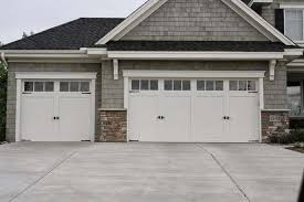 double carriage garage doors. Contemporary Doors Residential White Carriage Garage Doors With Top Windows  Single And Double On S