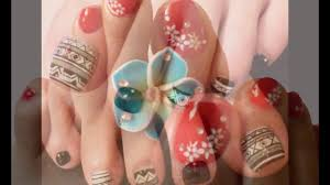 Latest Nail Art Designs for Legs - YouTube