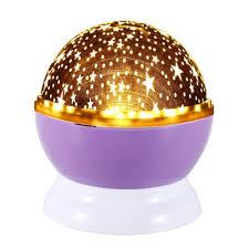 voogol romantic led night lamp rotating starry star moon sky rotation night lighting projector lamp kids