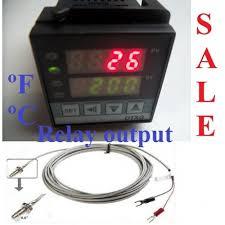 fahrenheit celsius dual digital pid temperature controller kiln fahrenheit celsius dual digital pid temperature controller kiln oven relay output thermocouple screw type