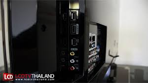 samsung tv buttons. side with hdmi usb and av connectors that comes the full set of jack pack is behind it. tv black, sleek lcd from general samsung tv buttons o
