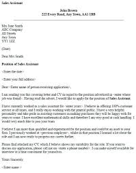 Sample Cover Letter Sales Manager Cover Letter For Sales Assistant With No Experience Sample Cover