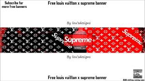 louis vuitton supreme logo. supreme x louis vuitton banner template logo