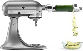 kitchenaid spiralizer attachment. kitchenaid ksm1apc spiralizer mixer attachment silver - best buy kitchenaid t