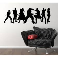 marvel avengers assemble iron man incredible hulk hawkeye thor captain america nick fury black widow superheroes wall art sticker decal picture