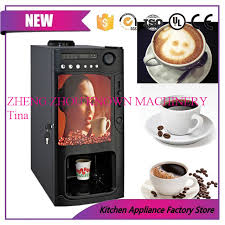 Coin Operated Tea Coffee Vending Machine Fascinating Commercial Automatic Instant Coin Operated Tea Coffee Vending