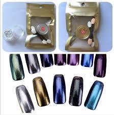 1g Box Zrcadlový Prášek Zlatý Stříbrný Pigment Na Nehty Glitter