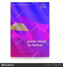 Vector Template Of Poster Design Layout For Brochure Banner Flyer