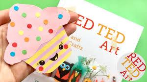 easy cupcake bookmark design diy corner bookmarks kawaii paper crafts diys red ted art