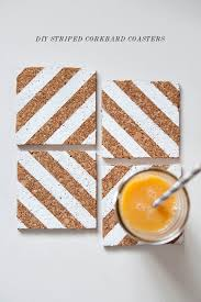 diy coasters diy striped corkboard coasters best quick diy gifts and home decor