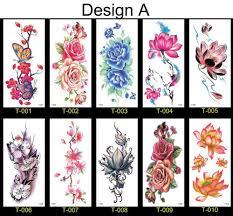 10 шт водонепроницаемые временные татуировки