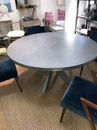 medium size of round zinc top dining table zinc top railway trestle round dining table round