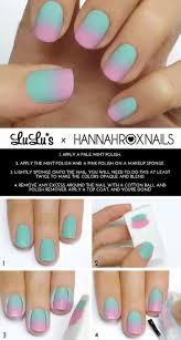 Mani Monday: Mint and Pink Ombre Nail Tutorial - Lulus.com Fashion Blog |  Tutorial uñas, Uñas de gel bonitas, Hacer uñas de gel