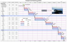 Production Gantt Chart Template Free Project Management Templates For Film Tv Publishing
