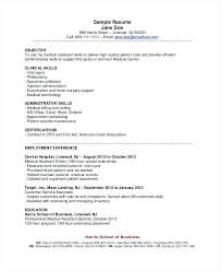 Objective For Business Resume Medical Assistant Resume Objective
