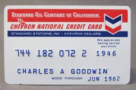 1962 standard oil chevron gasoline credit card