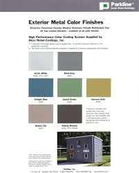 Metal Building Colors Chart Parkline South Small Metal Building Specialist In Industrial