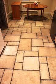 honed limestone tiled floor in bingham before cleaning