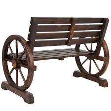 furniture wood design. Best Choice Products BCP Patio Garden Wooden Wagon Wheel Bench Rustic Wood Design Outdoor Furniture E