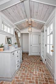 exposed brick floor of cottage the