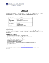 Gallery Of Internal Cover Letter Example