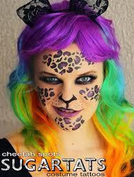 2016 leopard print face paint ideas for s cheetah spots makeup