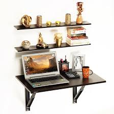 computer office table. Bluewud Hemming Folding Wall Mounted Study/Computer/Laptop/Office Table With Book Computer Office