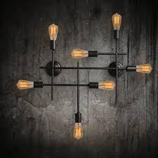 7 light unique black wrought iron wall sconces