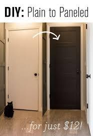 master makeover diy plain to paneled door