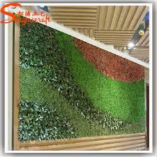 Hotel lobby artificial grass plant wall decor artificial green moss