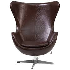 leather egg chair. Delighful Chair Amazoncom Flash Furniture Brown Leather Egg Chair With TiltLock  Mechanism Kitchen U0026 Dining And R