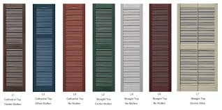 louvered decorative vinyl exterior shutters to enlarge