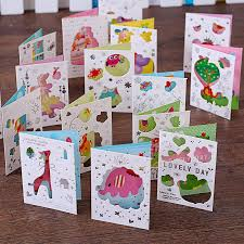 Folded Birthday Card 2019 Wholesale Cartoon Animal Models Of Color Hollow Folded Greeting Card Birthday Vlessings Card New Year Valentines Day From Meetamo 20 7