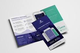 Mobile App Tri Fold Brochure Template Psd Ai V On Free Apps To