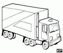 Kleurplaat Vrachtwagen Met Vier Assige Aanhangwagen Kleurplaten