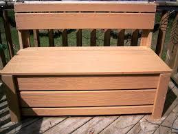 image of diy outdoor storage bench seat