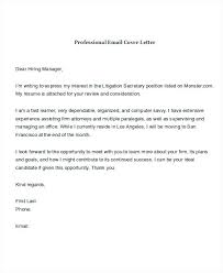 Sample Email For Job Application With Resume And Cover Letter