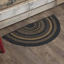 primitive rugs patriot navy jute blue half circle rug by vhc brands on dot bo