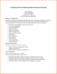 Customer Service Representative Resume Sample Sample Resumes